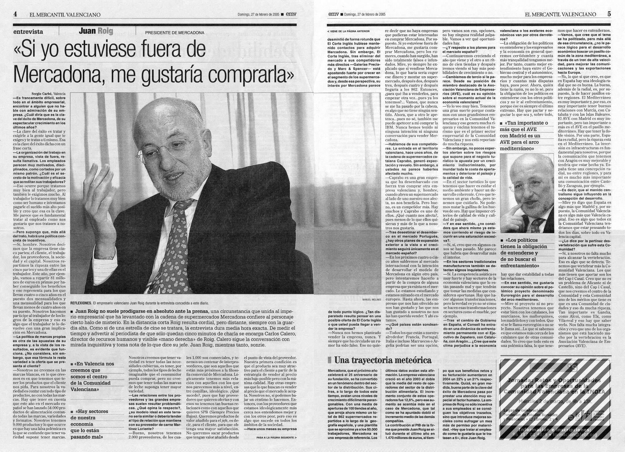 Mercadona by argonautas introducci n y noticias - Periodico levante el mercantil valenciano ...
